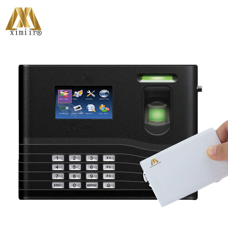 IN01-A Time Attendance Machine With 13.56MHz Card Backup Battery Free SDK With ADMS Function Time Recording Time Clock