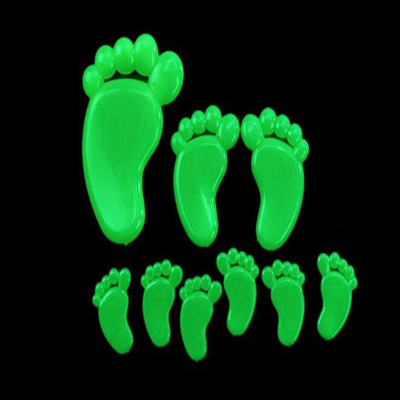 9 Feet / 9 Palms / 12 Smiles Fluorescent Stickers  Luminous Celling Wall Art Home Paste Ceiling Decoration Decal Tags Decor