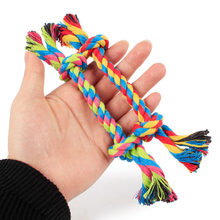 1 pcs Animali cani pet forniture Cane di Animale Domestico Del Cucciolo del Cotone Chew Toy Nodo Durevole Intrecciato Rope Bone 15CM Divertente tool (Colore Casuale)(China)