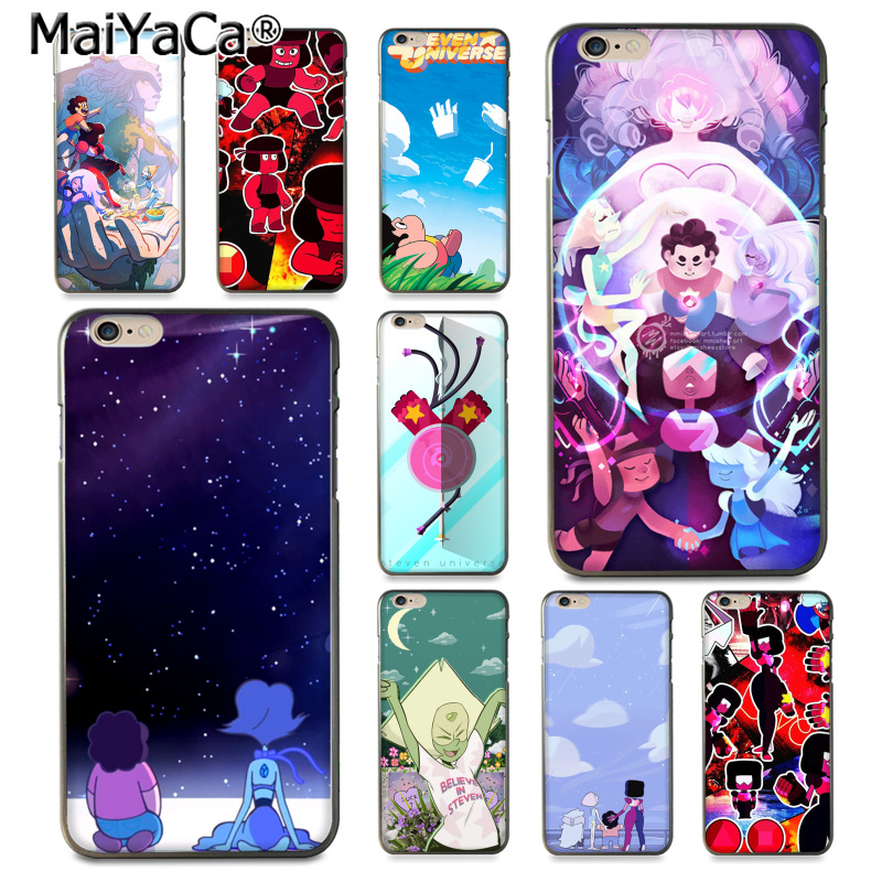 MaiYaCa Cartoon Steven Universe Top Detailed soft Phone case for iPhone 8 7 6 6S Plus X XS XR