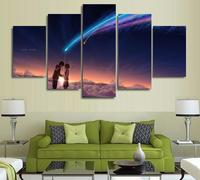 5 Panels Wall Art Your Name Kimi No Na Wa Paintings Art Canvas Paintings Poster Unframed
