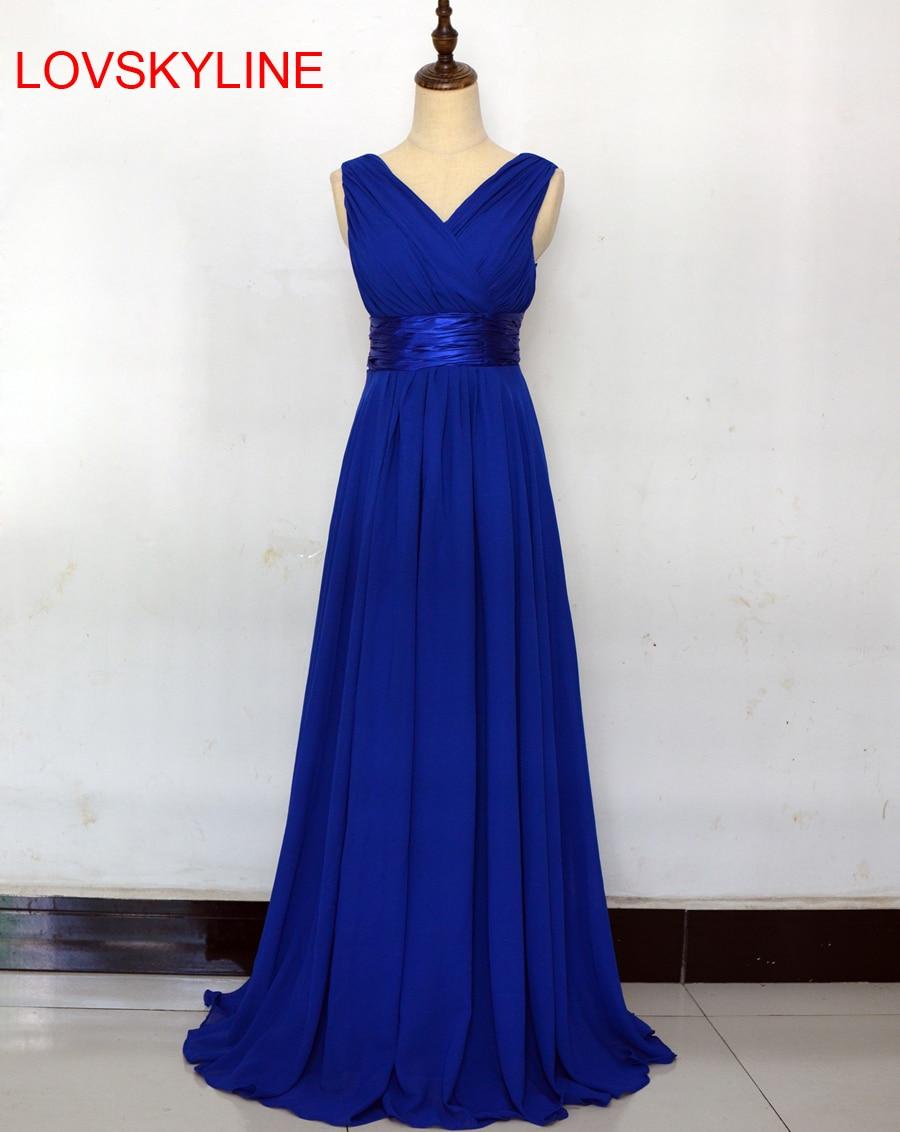 Robe De Roiree Double Shoulder Simple Solid Color Pleat Chiffon Long   Evening     Dresses   Mother Of The Bride   Dress