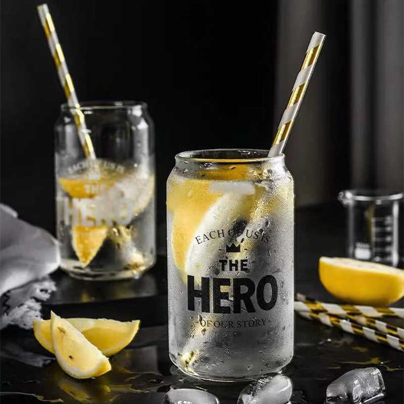 350ML Heat Resistant Letter Glass Cup Coffee Milk Juice Water Cups Wine Glass Handmade Healthy Drink Mug Transparent Drinkware