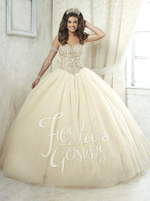 Marfim Querida Quinceanera Vestido De Tule Com Contas vestido de Baile Quinceanera Vestido Vestidos Vestido 15 Anos Sweet 16 Vestidos