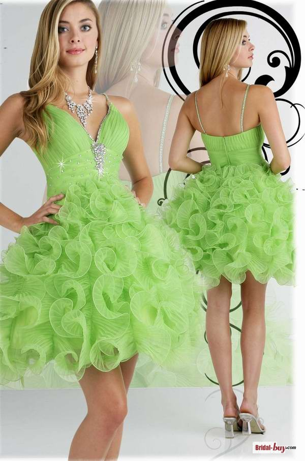 Popular Lime Green Short Prom Dresses-Buy Cheap Lime Green Short ...