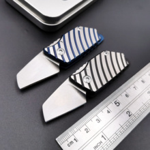 Mini Folding Knife D2 Blade TC4 Titanium Handle Key Pendant Outdoor Camping Survival Knives Hunting EDCTool 2019 hot gift outdoor tc4 titanium alloy mini d2 blade damascus bearing key chain quality folding knife camping pocket knife