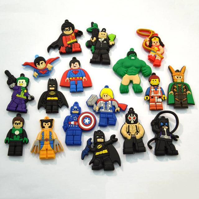 10pcs Super Hero Big Size Cartoon PVC Fridge Magnets Whiteboard ...