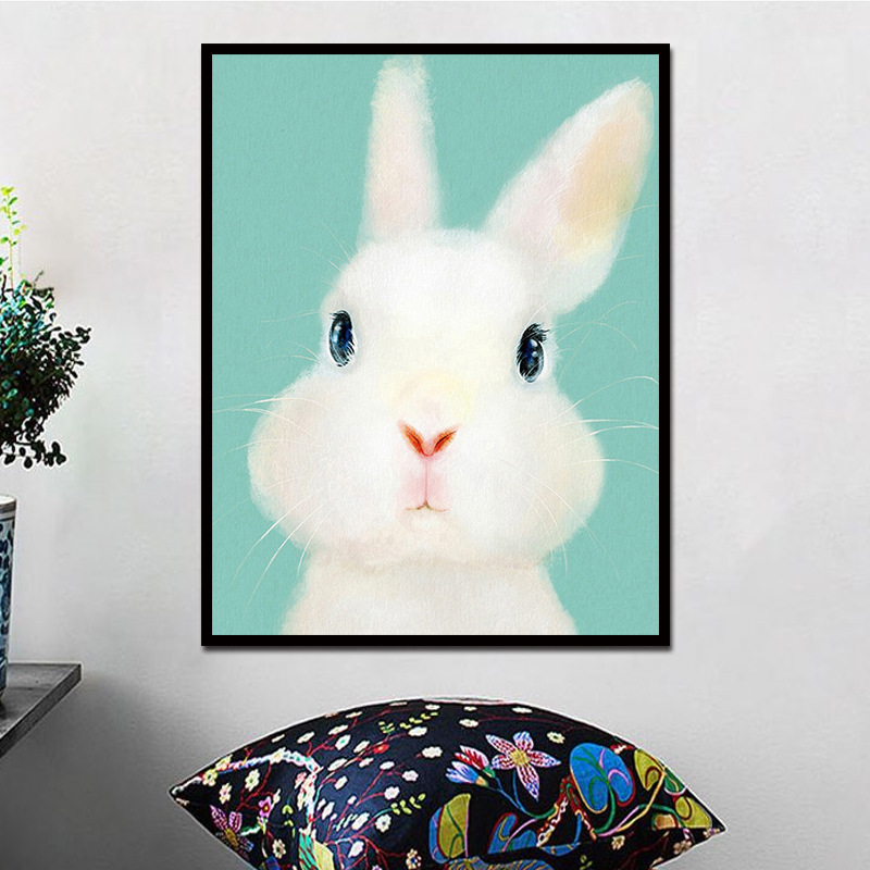 1Pcs Unframed Wall Art Canvas Painting Colorful Animal Hanging Picture Oil Painting on Canvas Abstract for Home Room Decor in Painting Calligraphy from Home Garden