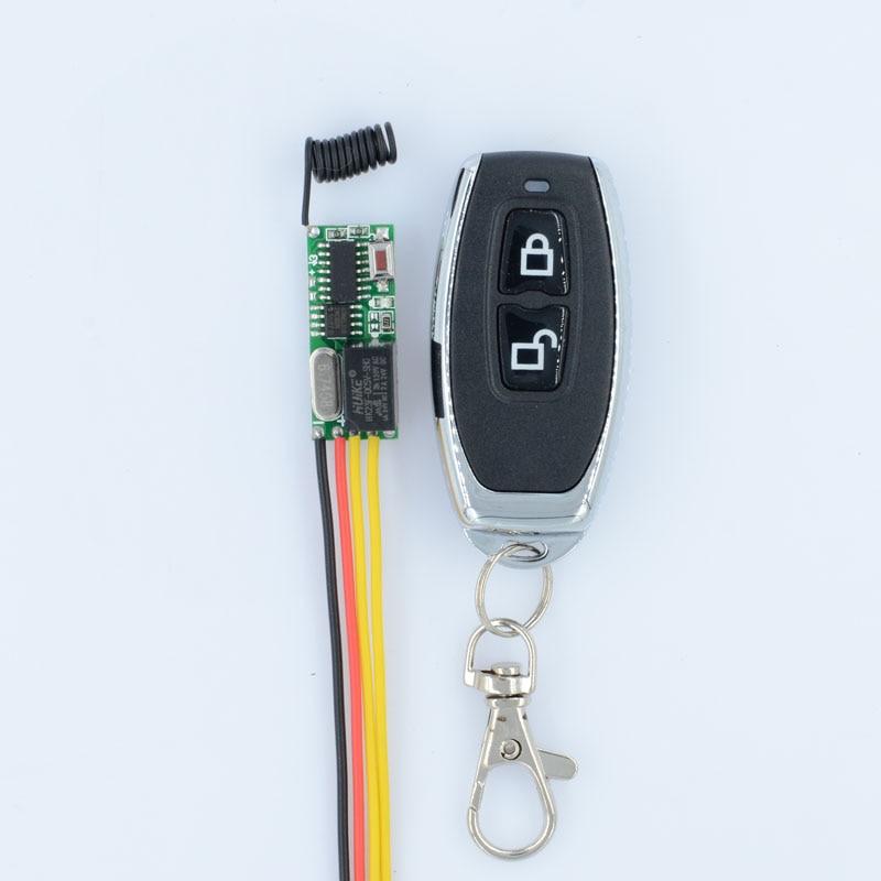DC 5V 12V RF Wireless Radio Remote Control Switch Remote Control Lighting Mini Receiver  Lock Unlock Button 315Mhz 433.92Mhz