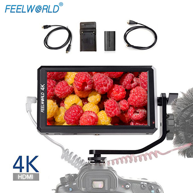 Feelworld F6 5.7 IPS 4K HDMI Camera Video Monitor for DSLR Canon Mirrorless Cameras Zhiyun Crane 2 DJI Ronin S Feiyutech цена