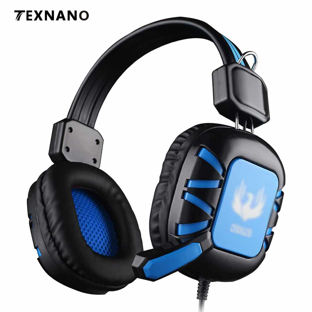 Gaming Headphone Video game headphones 3D surround sound Headset with Microphone 3.5mm plug for PC Gamer upgrade version Earphon philips shg7210 professional game headphones with microphone wire control headphone for xiaomi mp3 official verification