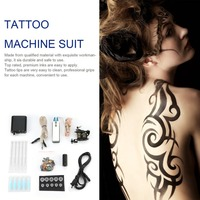 Tattoo Complete Beginner Tattoo Kit Pro Machine Inks Power Supply Needle Grips Tips Tatto BODY beauty Accessories Basic Set