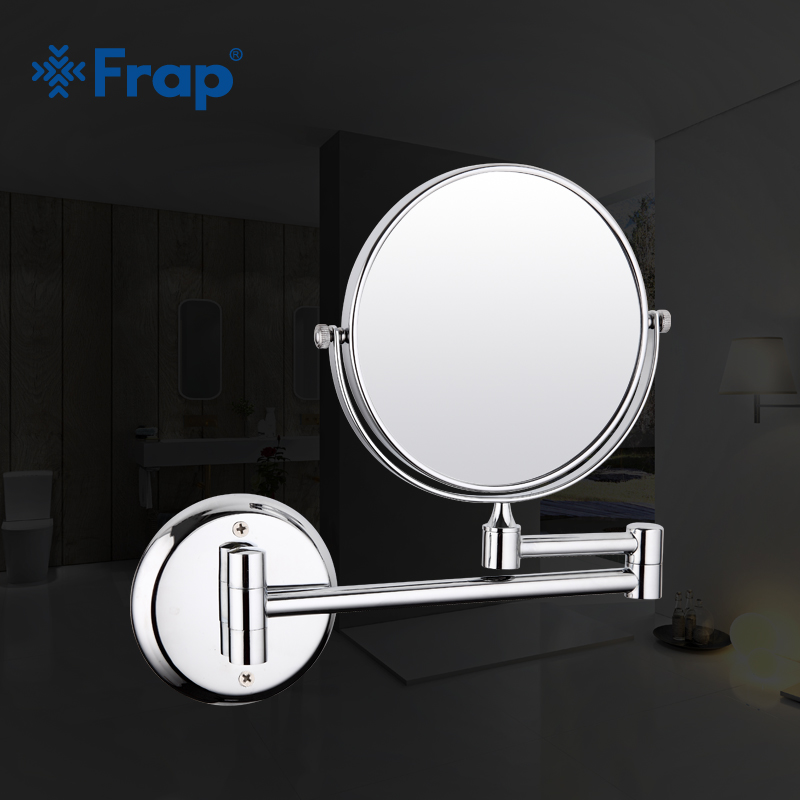 Frap New Arrival Makeup Mirror Professional Vanity Mirror Bathroom Accessories 180 Rotating Free Magnifier F6206 F6208 Bathroom Fixtures Bath Mirrors