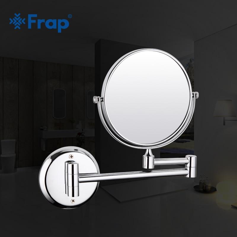 Nouveauté Chrome mural fini accessoires de salle de bain miroir Distance réglable F6106 F6108