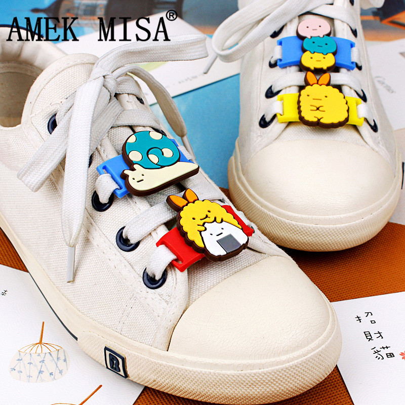10 Pcs a Set Novelty Cartoon San x Shoe Decorations Casual Sports Shoe Shoelace Charms Shoes Accessories Fit Children Gifts M431 in Shoe Decorations from Shoes