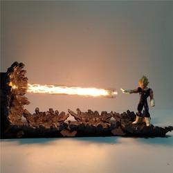 Dragon Ball Z Super Saiyan Vegeta Figurine DIY LED Table Lamp Dragon Ball Super Evil Vegeta Power Up Led Lighting Christmas Toys
