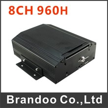960H 8 channel real time recording mobile DVR works with 2TB HDD, 4 alarm input