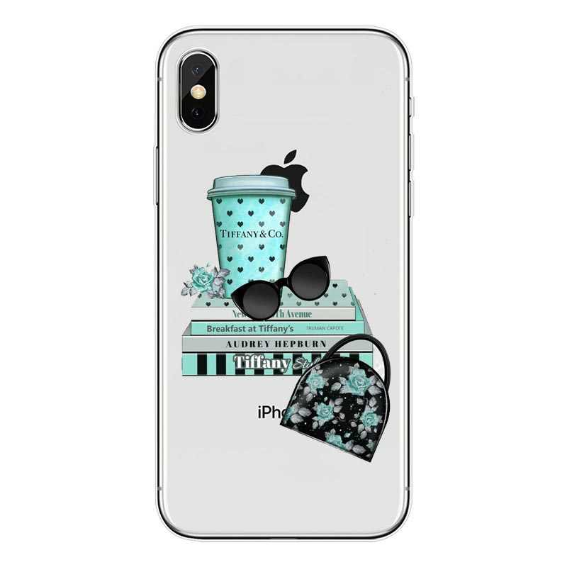huge discount 16e66 60565 Breakfast at Tiffany's TPU Silicone Phone Cover For iPhone 7 7Plus Case For  iPhone 7 XS Max 5S SE 6 6S Plus Holly Golightly case
