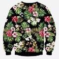 [Elmo] Inverno nova Moda masculina treino 3d Flores Impressão Ocasional o-pescoço camisola homens Harajuku polerones hombre