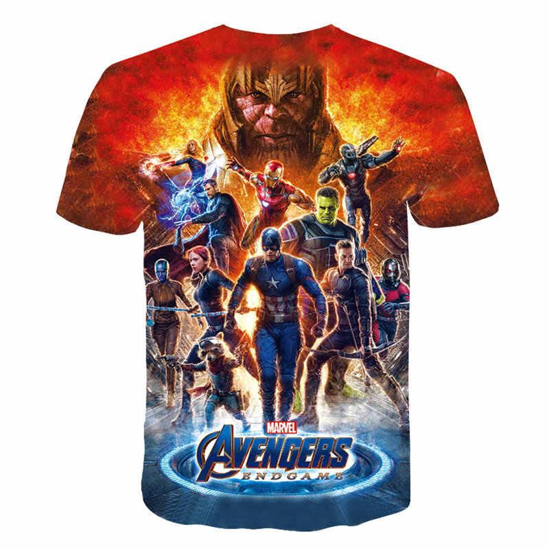 Мужская Новая летняя модная футболка 2019 новая чудо Мстители 4 финальная футболка 3d Косплей печать футболка супергерой Америка Топы