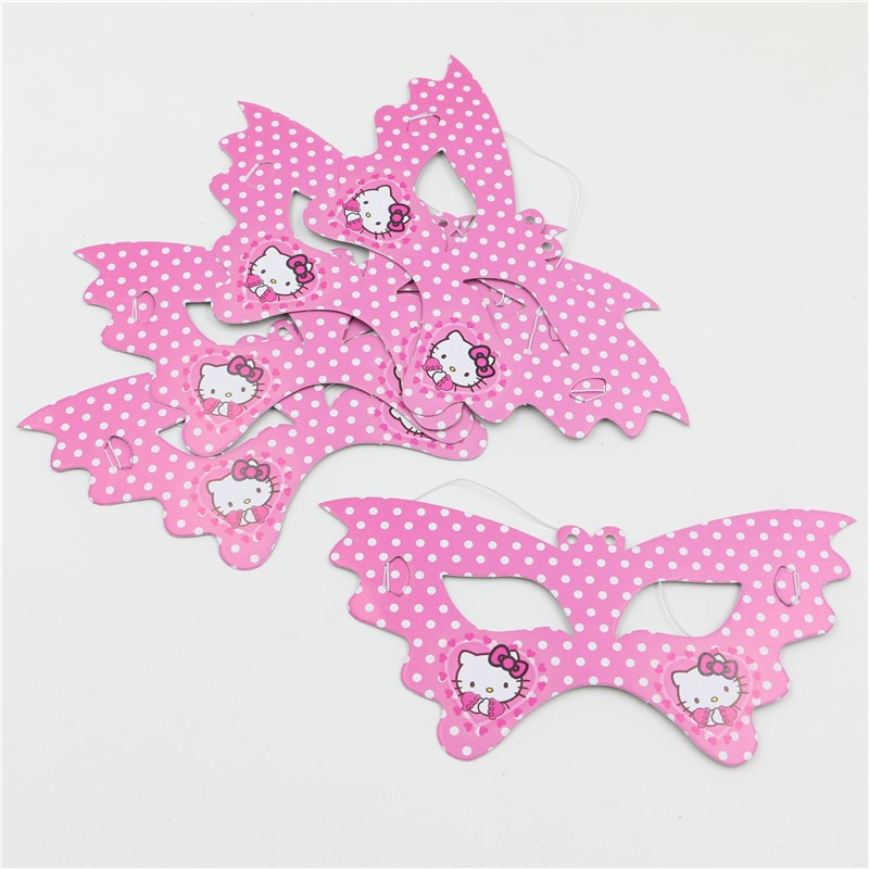 10pcs/lot Cartoon Hello Kitty Theme birthday caps for Birthday Party Supplies Kids Event&Party Decoration party supplies