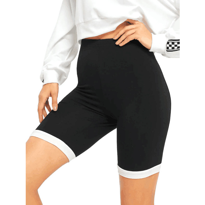 Yoga Short Leggings Knee Length Tight Tummy Control
