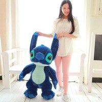 Большой милые плюшевые темно синие стежка игрушка Большой Творческий стоя стежка Кукла подарок около 130 см 0748