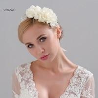 Headwear Vintage Flower Hair 2018 Bridal Hats Pearls Flowers Beaded Handmade for Brides Wedding Accessories