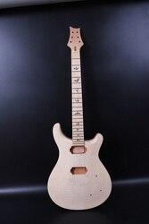 Unfinished Diy Elektrische Gitarre Körper Mahagoni + Flamme Ahorn Furnier Gitarre Projekt