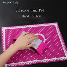 1 Set Hand Rests Nail Art Equipment Advanced Silicone Pillow Hand Holder Cushion Table Mat Pad Foldable Washable Salon Manicure(China)