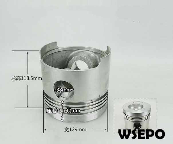 OEM Quality! Piston for ZS1130 4 Stroke Single Cylinder Small Water Cooled Diesel EngineOEM Quality! Piston for ZS1130 4 Stroke Single Cylinder Small Water Cooled Diesel Engine