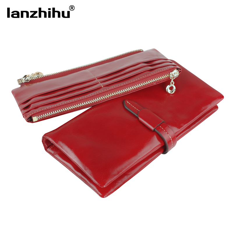 2016 Vintage Genuine Leather Women Wallet Fashion Leather Long Zipper Women's Trifold Wallets Luxury Cowhide Clutch Wholesale mlb baltimore orioles embossed genuine cowhide leather trifold wallet