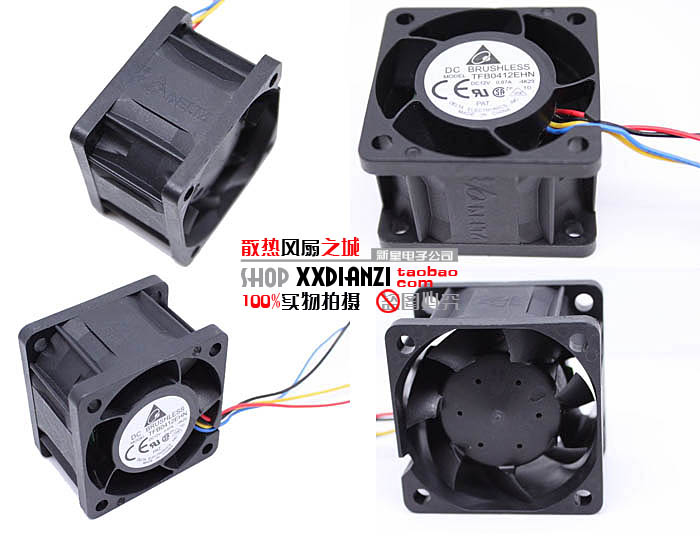 Delta TFB0412EHN 4CM <font><b>40MM</b></font> 4028 <font><b>12V</b></font> 0.87A Server Inverter case axial Cooling <font><b>fans</b></font> image