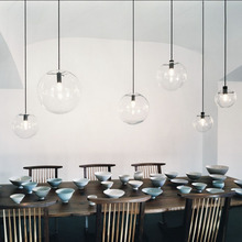 Nordic Pendant Lights Loft Master Bedroom Art Deco Pendant Light Living Room Study Pendant Industrial Cafe Kitchen Hanging Lamps magic beans dna lustres wrought iron industrial cafe project 5 lamps nordic art deco glass ball led pendant hanging lights