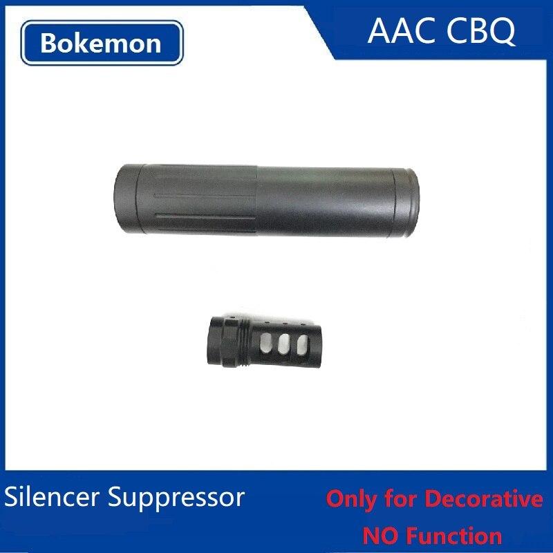 Nerf Gel Balle pistolet jouet Airsoft AAC CQB Métal Silencieux Suppresseur flash hider diamètre Extérieur 19 MM tube museau Pour décoration