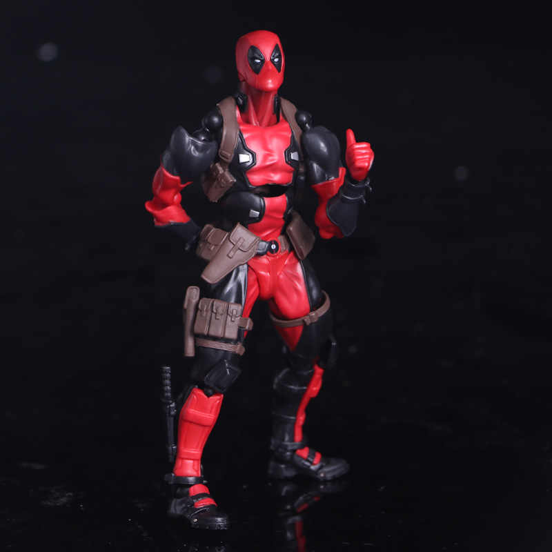 Revoltech NO. 001 Deadpool Marvel Super Hero Figuras de Ação X-Men 15 BJD Boneca de Brinquedo cm