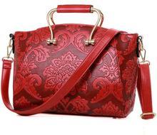ONEFULL Chinese style shoulder bag women embossed floral portable shoulder bag flower classic bridal bag shoulder bags brand