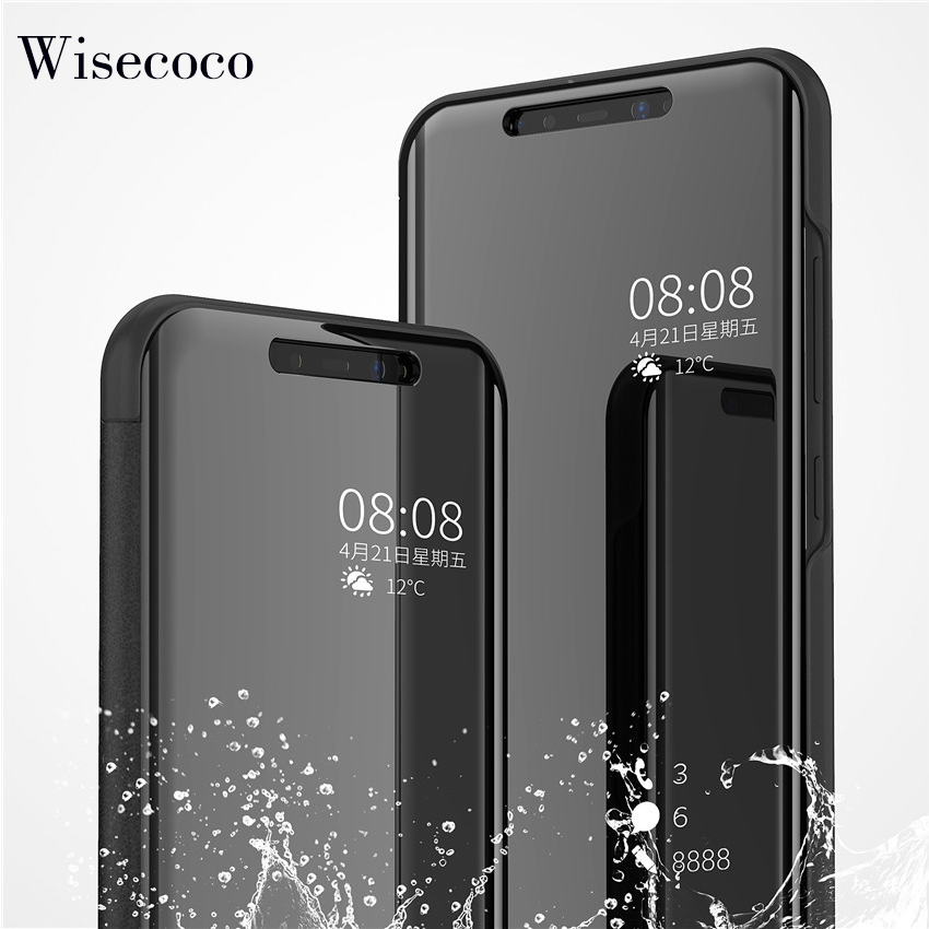 Case for Capinha Xiaomi mi a2 lite Luxury Flip Stand Touch Leather Mirror View 360 Full cover for xiomi redmi 6 pro a2lite 6pro