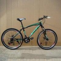 Rower górski wysokiej jakości wysokiej materiał ze stali węglowej 21/24 prędkości 26 cal wiosna widelec jazda na rowerze urządzenia dla producenta w Rower od Sport i rozrywka na