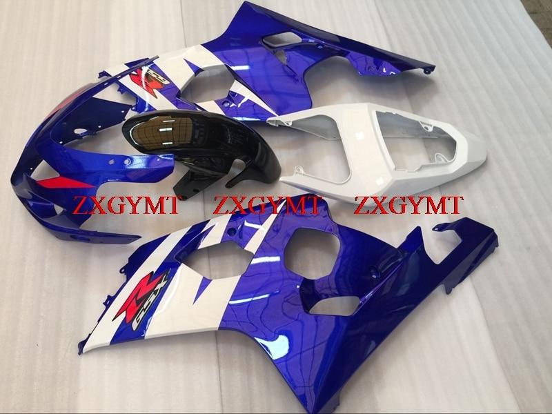 Fairings for GSXR 750 2004 - 2005 K4 Plastic Fairings GSX R 750 05 Blue White Fairings for Suzuki GSXR600 04Fairings for GSXR 750 2004 - 2005 K4 Plastic Fairings GSX R 750 05 Blue White Fairings for Suzuki GSXR600 04