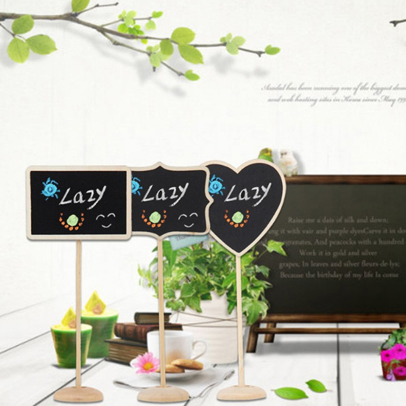 5pcs Wooden Mini Blackboard Chalkboard with Stand Place Wedding Table Number Sign Sale HG99