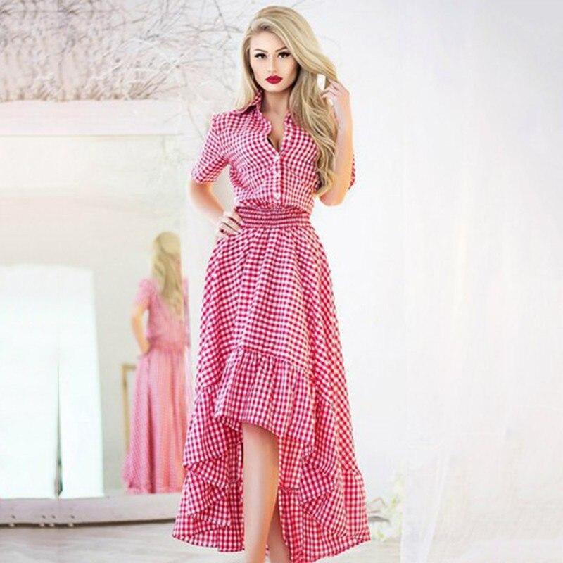 IHOT Mujer verano elegante de La Vendimia 60 s irregular túnica ...