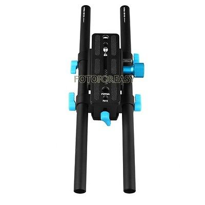 FOTGA DP3000 15mm Rail Tige Pointe QR Plaque de Montage Pour DSLR Follow Focus Plate-Forme