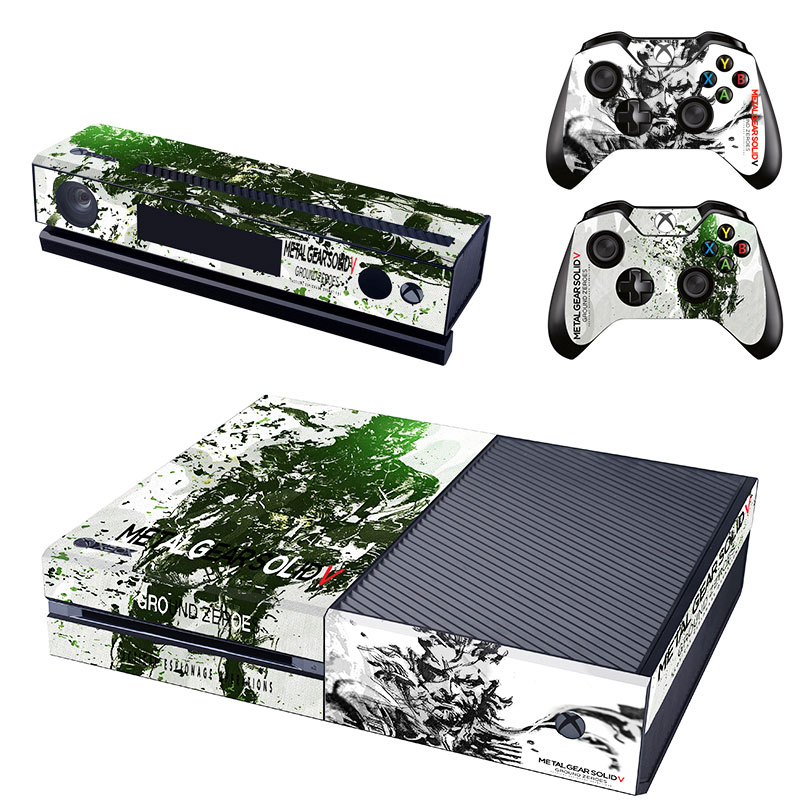 Metal gear protective skins full body vinyl decal skin sticker for xbox one console 2 controllers in stickers from consumer electronics on aliexpress com