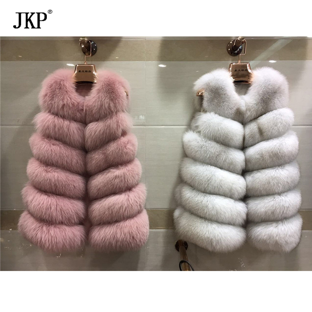 2018 new type of hot selling winter 100% natural fox hair vest without sleeves, high quality fashion, high quality fox skin vest