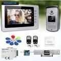 HOMSECUR 7inch Video Sicherheit Tür Telefon mit Stumm Modus für Home Security für Haus/Flache-in Videosprechanlage aus Sicherheit und Schutz bei
