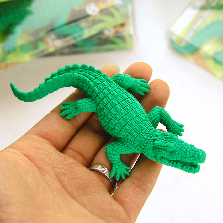 Green Crocodile Eraser Rubber Pencil Eraser For Birthday Gift Party Favors, Games Prizes, Carnivals Gift And School Supplies