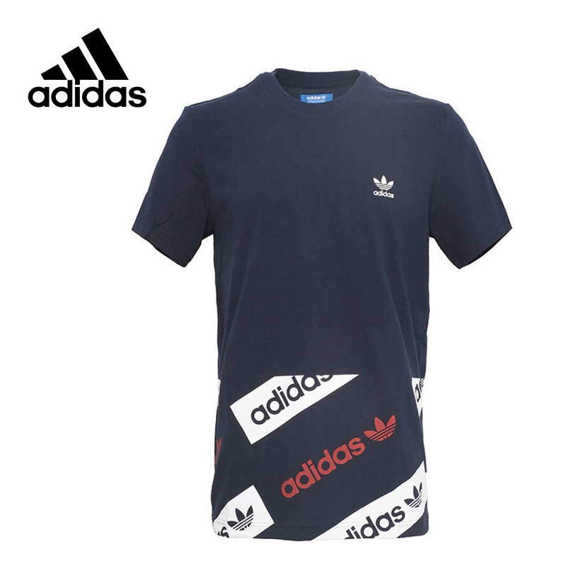 Original New Arrival Official Adidas Originals Men's T-shirts short sleeve Sportswear adidas original new arrival official women s tight elastic waist full length pants sportswear aj8153