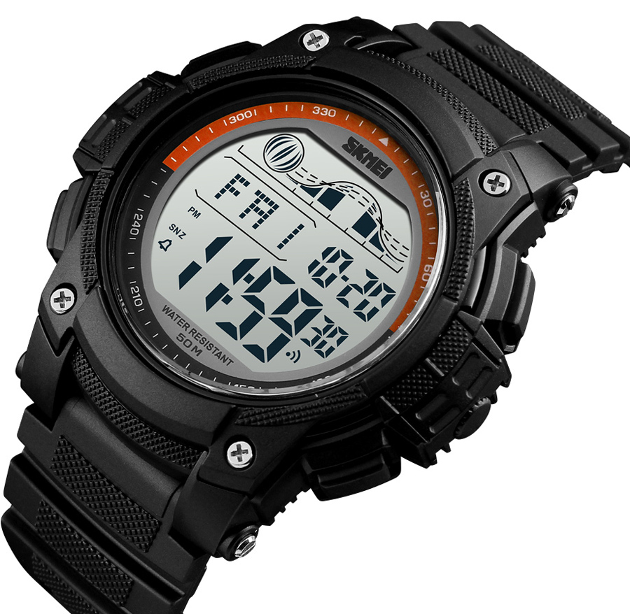 New Fashion Sport Mens Watches 5Bar Waterproof LED Display Watches Alarm Clock Chrono Digital Watch reloj hombre <font><b>SKMEI</b></font> <font><b>1372</b></font> image