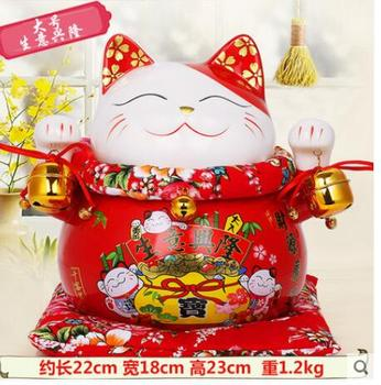 As good as water plus size cat ceramic ornaments shop opened the gift money piggy bank 0042